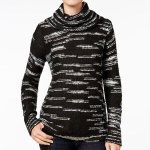 NWT Kenzie Cowl Neck Spacedye Thick Knit Sweater